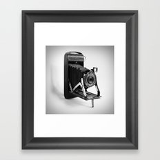 Antique Kodak Camera Black and White Photo Framed Art Print