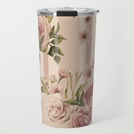 Flowers and Stripes Two Travel Mug