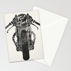 fast as fuck III Stationery Cards