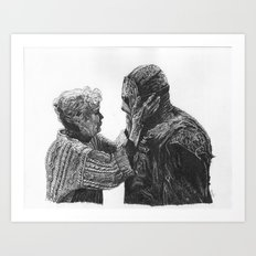 Jason and Mrs Voorhees Art Print