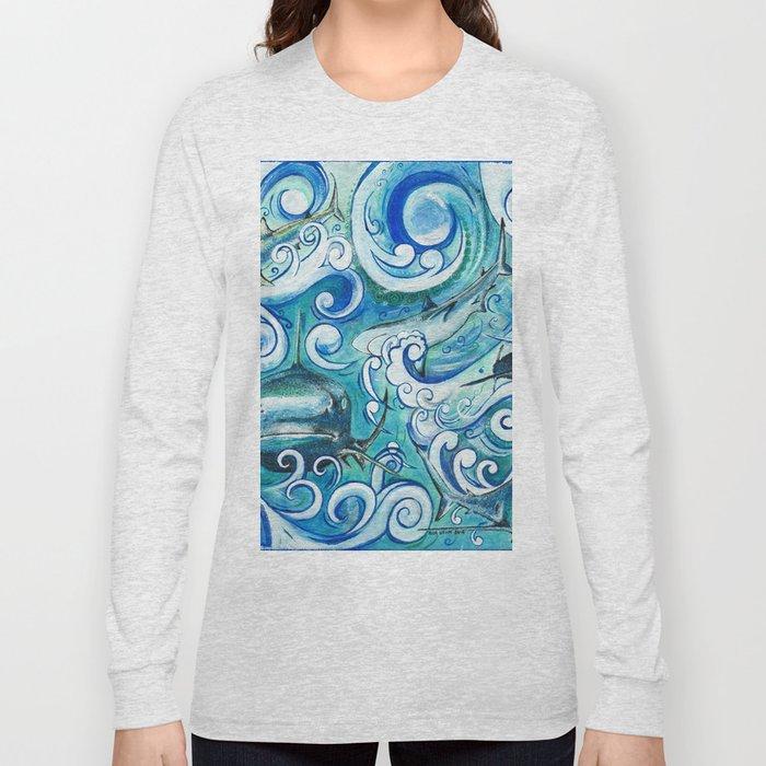 Shark wave Long Sleeve T-shirt