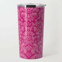 Elegant Damask Pattern (fuchsia) Travel Mug