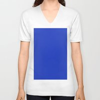persian V-neck T-shirts featuring Persian blue by List of colors