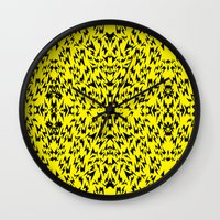 lightning Wall Clocks featuring Lightning by Padi Patt