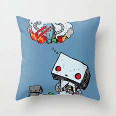 A Dream About the Future Throw Pillow