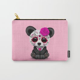 Pink Day of the Dead Sugar Skull Panda Carry-All Pouch
