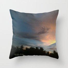 Fox In Socks - Clouds Throw Pillow