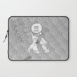 GURL... I'M GAY! (Peter Pan) Laptop Sleeve