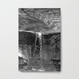 Waterfall Archway Metal Print