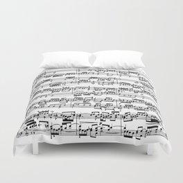 Sheet Music by Bach Duvet Cover