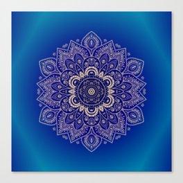 Temptation - Mandala 1 on Blue Backgound  Canvas Print