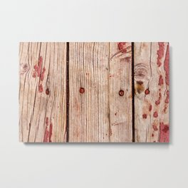 Used Rough Wooden Planks Metal Print