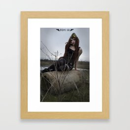 Alone in the Wasteland Pin-up 1 Framed Art Print