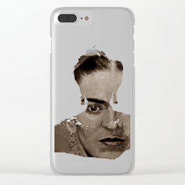 FRIDA - SHIRT version - sepia Clear iPhone Case