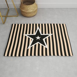 The Greatest Star! Black and Cream Rug