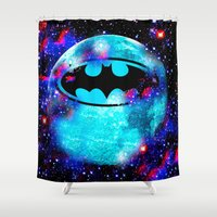 bat Shower Curtains featuring Bat by Saundra Myles