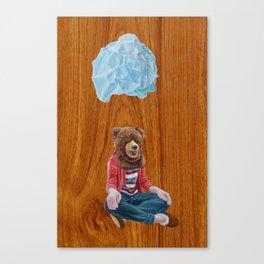 Bear Girl Canvas Print