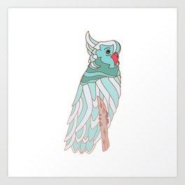 The parrot a la cockatoo Art Print