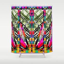 fire pattern Shower Curtain
