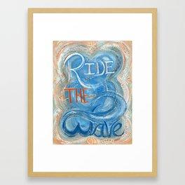 Ride The Wave Framed Art Print