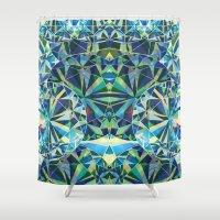 diamond Shower Curtains featuring Diamond by Marta Olga Klara