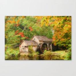 Mabry Mill Autumn Canvas Print