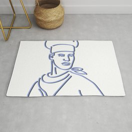 Chef Looking to Side Neon Sign Rug