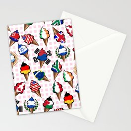 Ice cream flags Stationery Cards