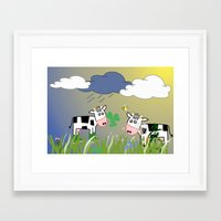 cows Framed Art Prints featuring Cows by LoRo  Art & Pictures
