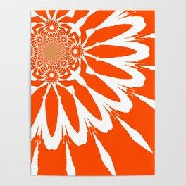 The Modern Flower Orange Poster