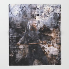 unconquerable ragnar Throw Blanket