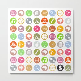 Science - Study Icons Metal Print