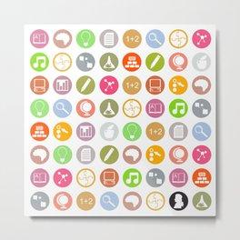 Science - Study Icons Metal Print