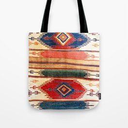 Aksaray Antique Cappadocian Turkish Kilim Print Tote Bag