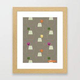 Tea time - Fabric pattern Framed Art Print