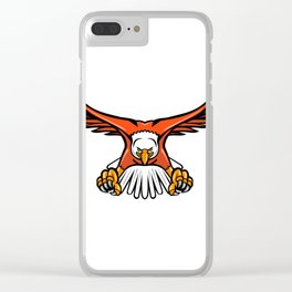 Bald Eagle Swooping Front Mascot Clear iPhone Case