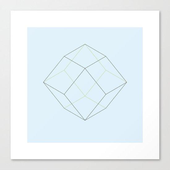 #87 Rhomboids – Geometry Daily Canvas Print