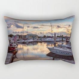Portsmouth Marina at Sunset Rectangular Pillow
