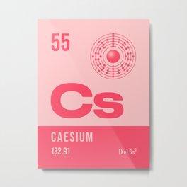 Periodic Element A - 55 Caesium Cs Metal Print