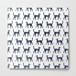 Star cat pattern Metal Print