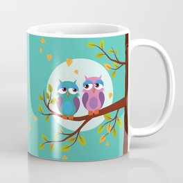 Sleepy owls in love Coffee Mug