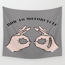 How To Motorcycle Wall Tapestry