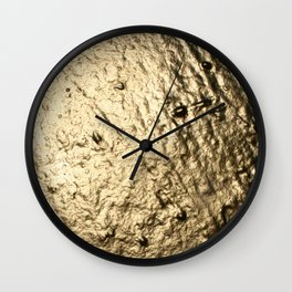 Dripping in Gold Wall Clock