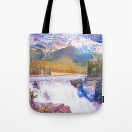 Waterfall and Mountain Tote Bag
