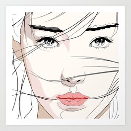 Under The Mask Art Print