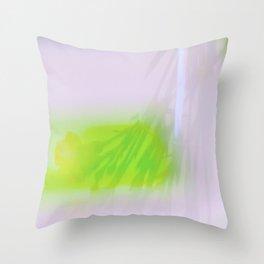 Green Carnations Throw Pillow