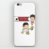 soccer iPhone & iPod Skins featuring Soccer Skull by flydesign