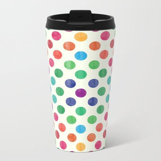 Lovely Dots Pattern III Metal Travel Mug