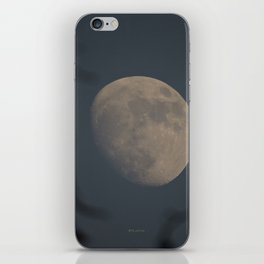 Moon at Three-Quarters iPhone Skin