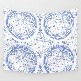 cornflower blue Wall Tapestry
